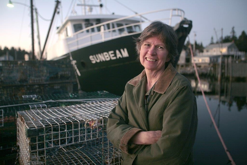 Sharon Daley, RN at the Maine Seacoast Mission Society, utilizes telemedicine aboard a 76-foot boat called the Sunbeam.